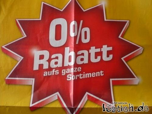 0% Rabatt