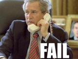 Bush telefoniert