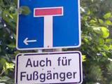 Sackgasse für Fußgänger