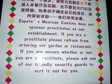 Prostituierte verboten