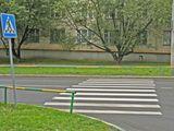 Zebrastreifen mit Hindernis