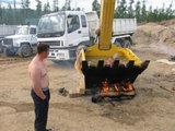 Bad auf der Baustelle