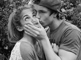 Ein romantischer Kuss