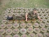 Posen auf Tretminen in Russland