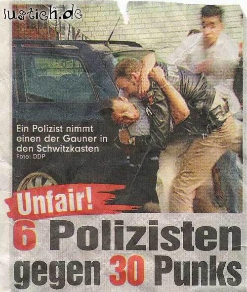 Polizei gegen Punks