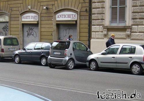 Mit dem Smart einparken