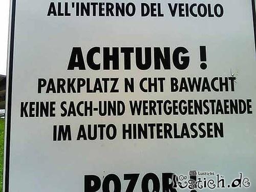 Parkplatz bawacht