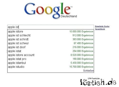 Google beleidigt Apple