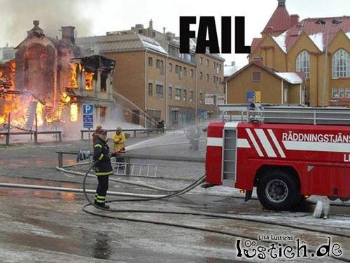 Blinder Feuerwehrmann