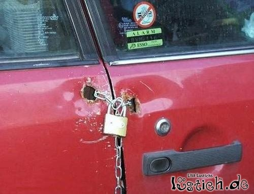 Auto gut abgeschlössen