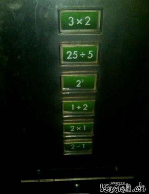 Aufzug für Mathematiker