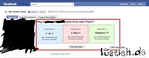 Geile Facebook-Frage