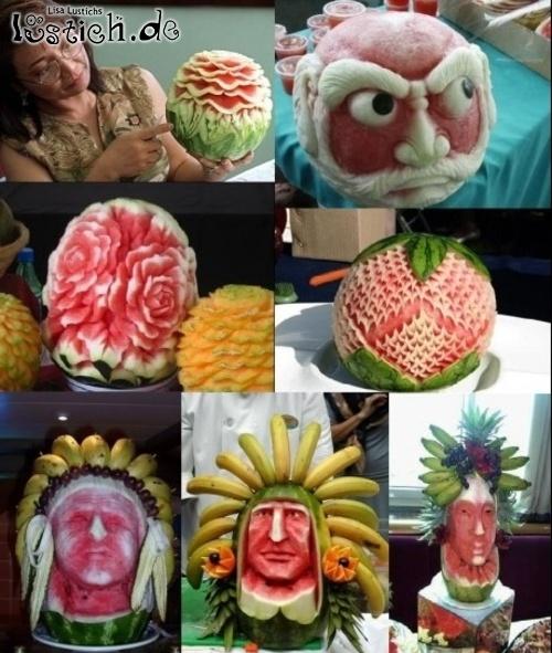 Große Melonenkunst