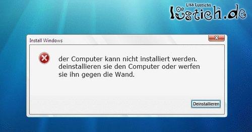 Lusticher Windows Error