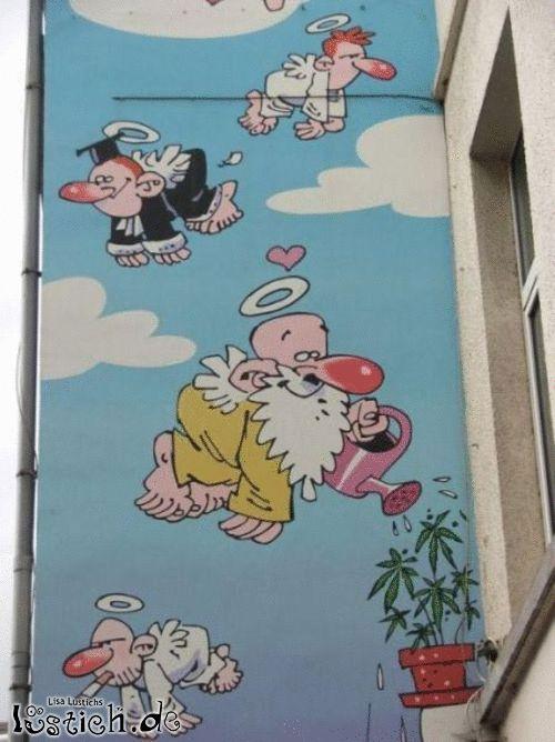 Wandbild in Belgien