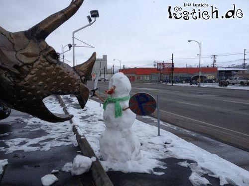 Kämpferischer Schneemann
