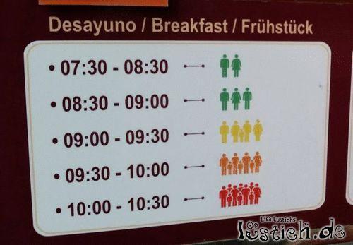Frühstückszeiten