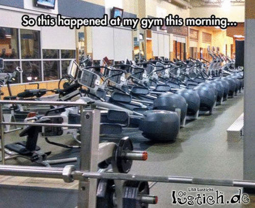 Fahrradunfall im Fitnessstudio