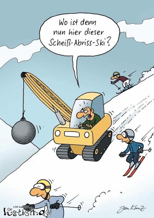 Abriss-Ski!