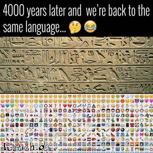 4000 Jahre später wieder bei der Symbolsprache