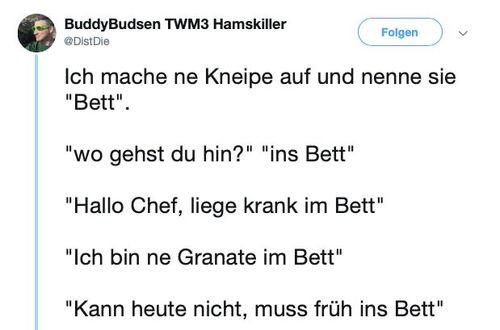 Kneipe namens Bett