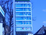 Krasser Benzinpreis