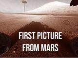 Erstes Bild vom Mars