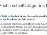 Fuchs beschießt Jäger