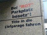 Parkplatz besetzt
