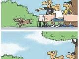 Gut trainierter Hund