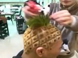Ananasfrisur