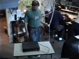 Brennender Videorecorder